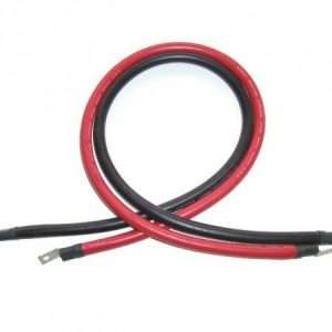 2 Foot 4/0 AWT Inverter Cables