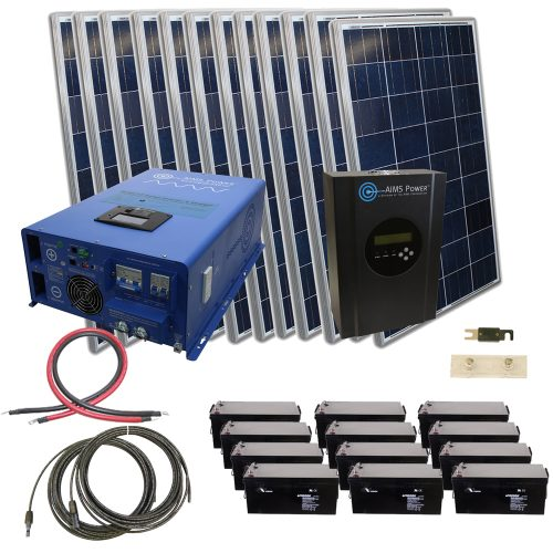 Aims Kitb 12k48240 C1 2880 Watt Solar Kit With 12000 Watt