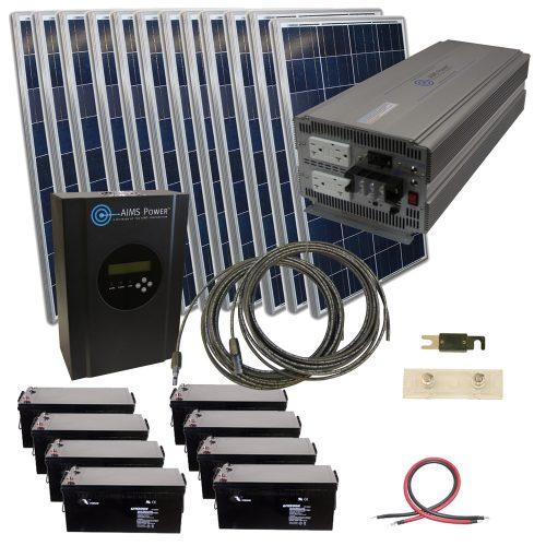 Aims Kitb 5k48120 C1 2880 Watt Solar Kit With 5000 Watt