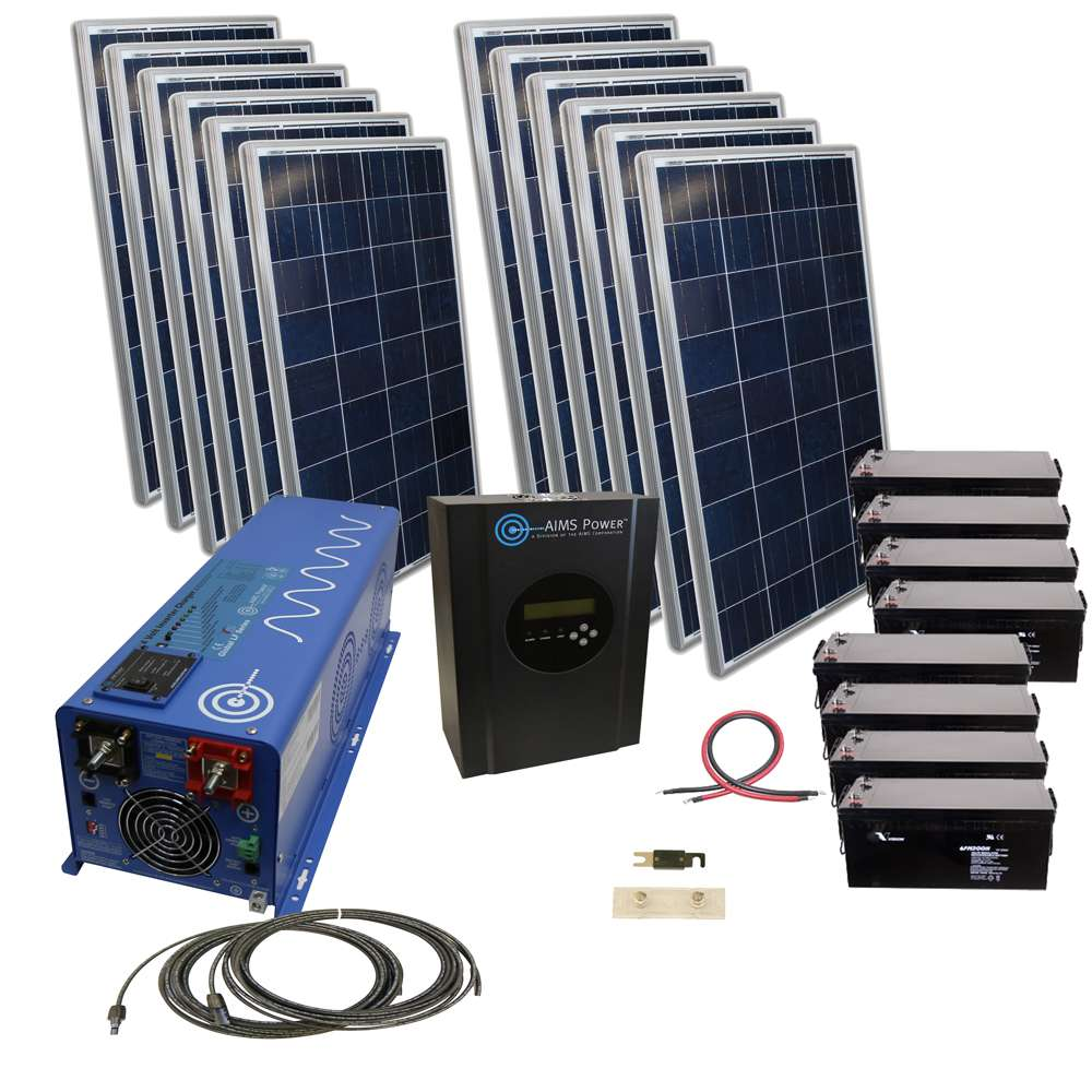 Aims Kitb 6k48120 C1 2880 Watt Solar Kit With 6000 Watt