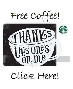 Thanks, enjoy a coffee on us!