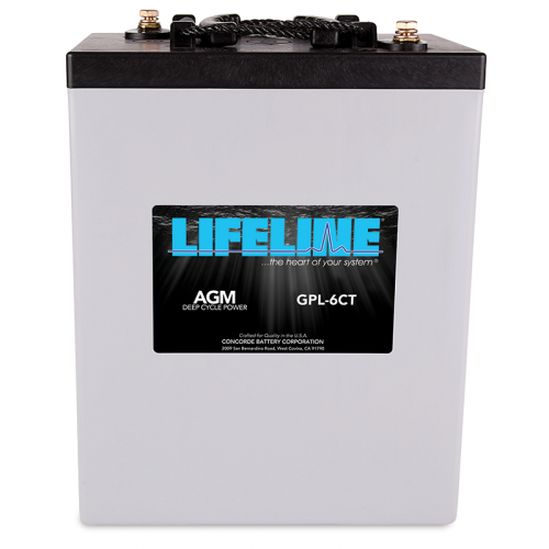 Lifeline 300A 6V AGM Deep Cycle Battery GPL-6CT