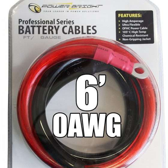 0 AWG Power Inverter Cables