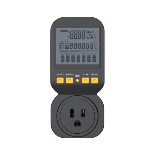 Digital Power Meter With Remote Display : Spartan power sp pm portable digital energy monitor meter
