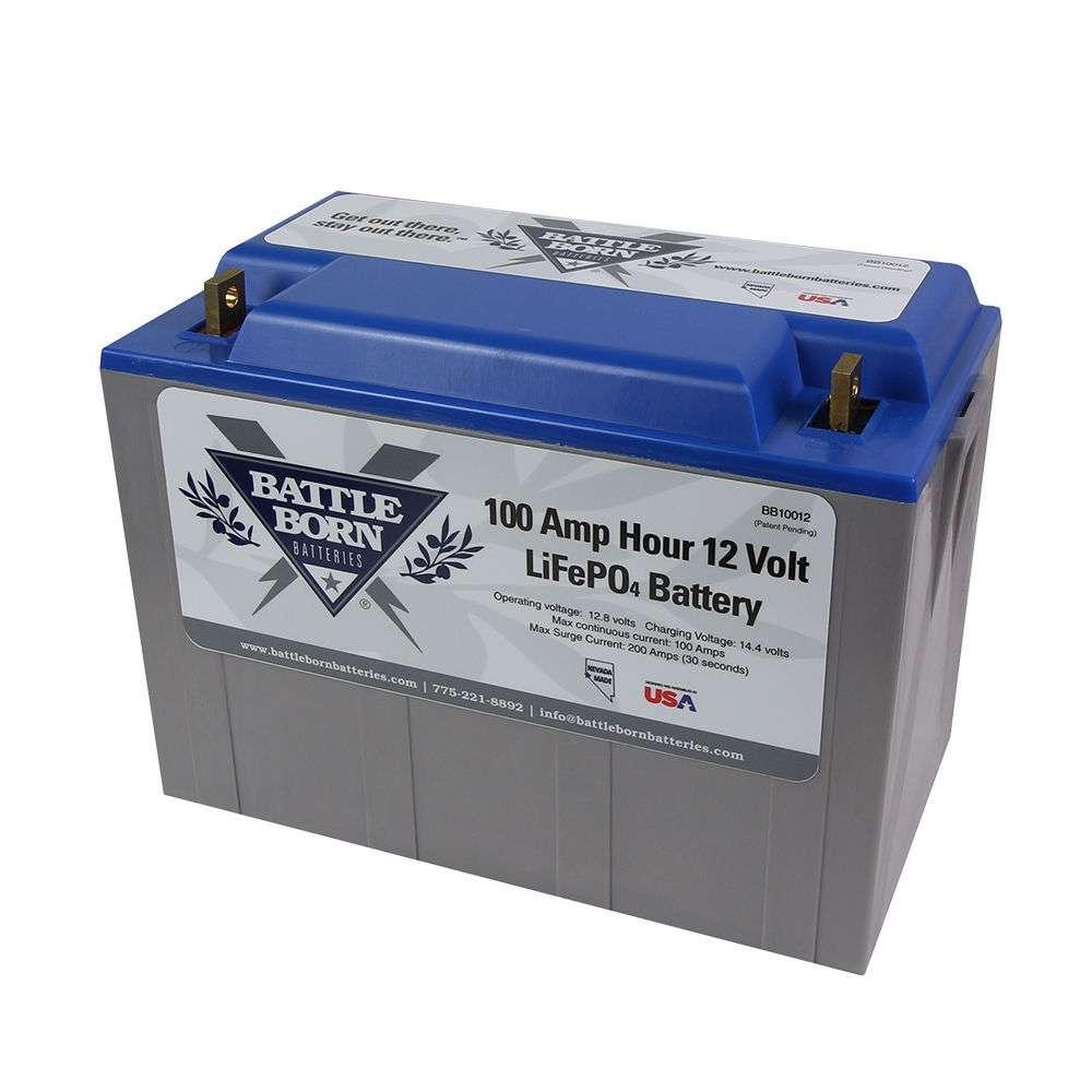 Battle Born Bb10012 100ah 12v Lifepo4 Lithium Deep Cycle Battery Cotekinverterandbatterybankwiringjpg
