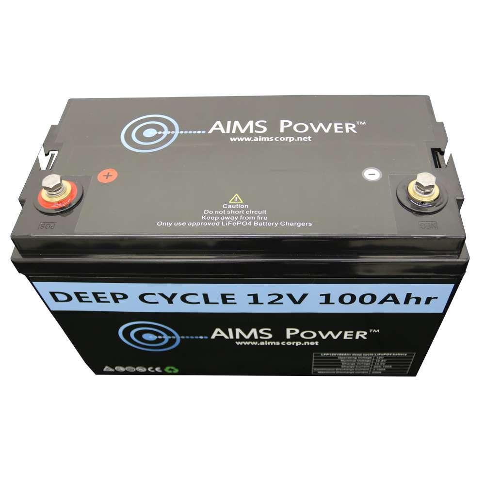 Aims Power Lifepo4 Lithium Deep Cycle Battery 12v 100ah Lfp12v100a Short Circuit Car Inverters R Us