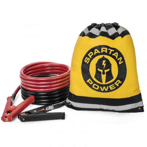 6 Foot 2 AWG Gauge Battery Cable Set by Spartan Power Many Lengths of Wire to Choose from Made in America