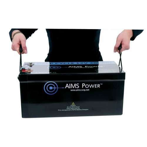 Aims LFP12V200 LiFePO4 Battery Handles