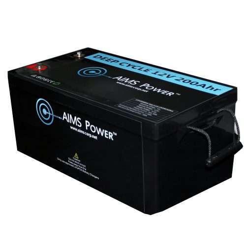 Aims LFP12V200 LiFePO4 Battery Side