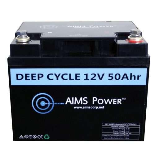 Aims LFP12V50A 50A LifePO4 Battery