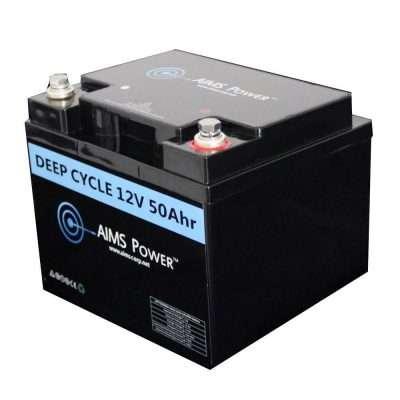 Aims LFP12V50A 50A LifePO4 Battery Angle