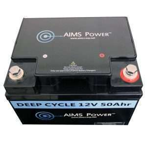 Aims LFP12V50A 50A LifePO4 Battery Top