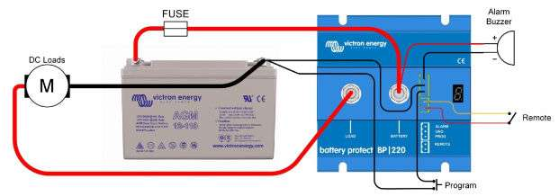 Victron Battery Protect diagram